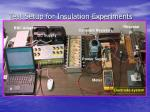 test setup for insulation experiments