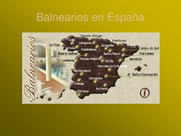 Balnearios en España