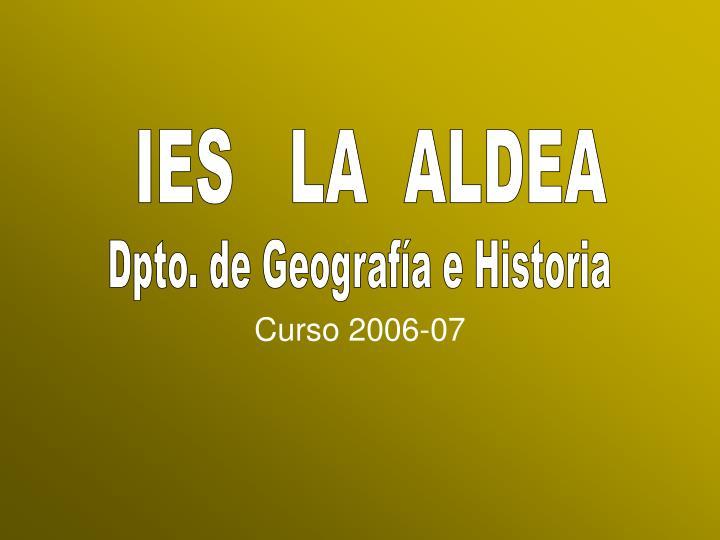 Curso 2006 07