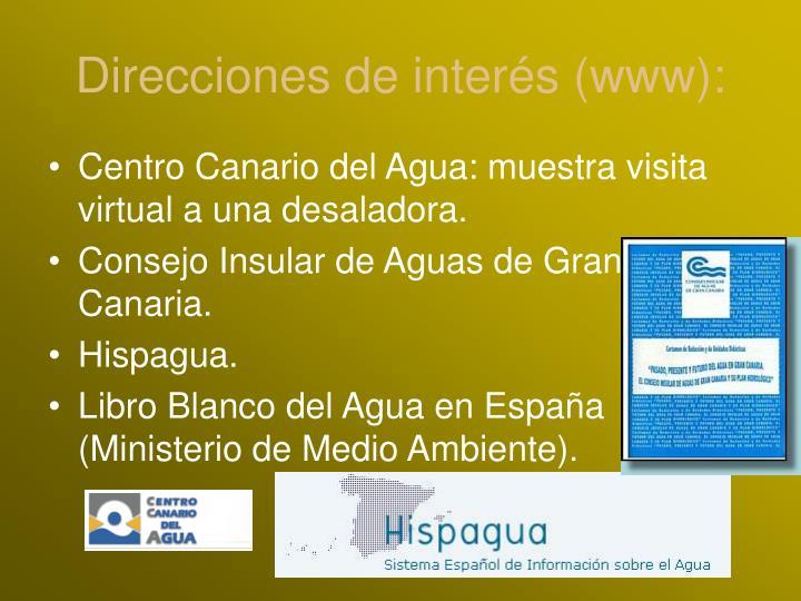 Direcciones de interés (www):