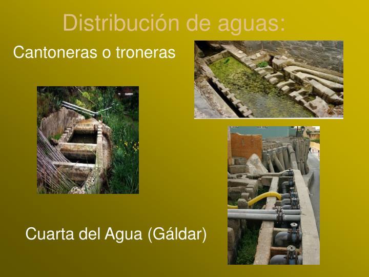 Distribución de aguas: