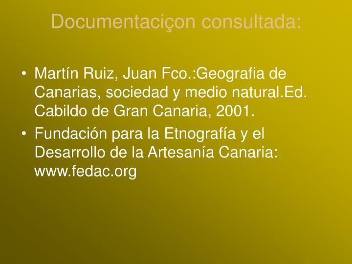 Documentaciçon consultada: