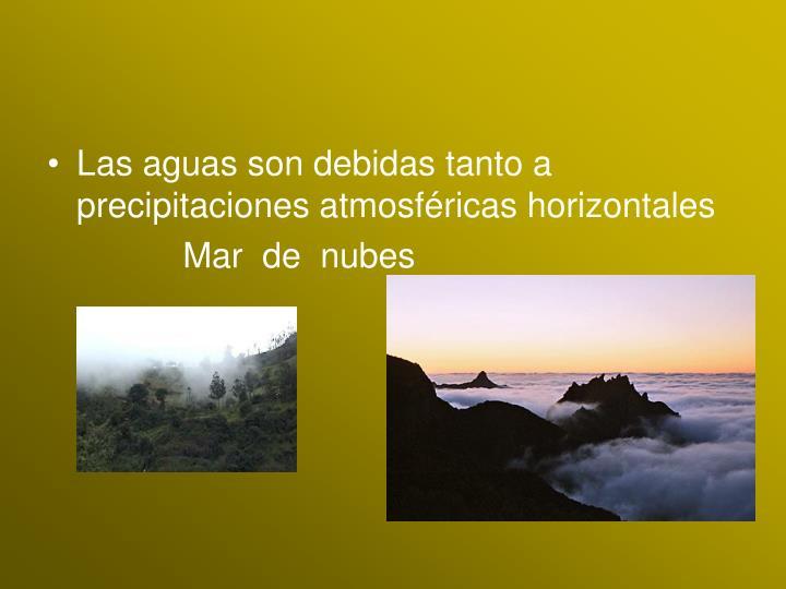 Las aguas son debidas tanto a precipitaciones atmosféricas horizontales
