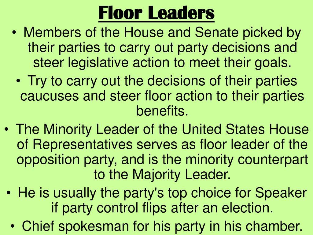 Floor Leaders