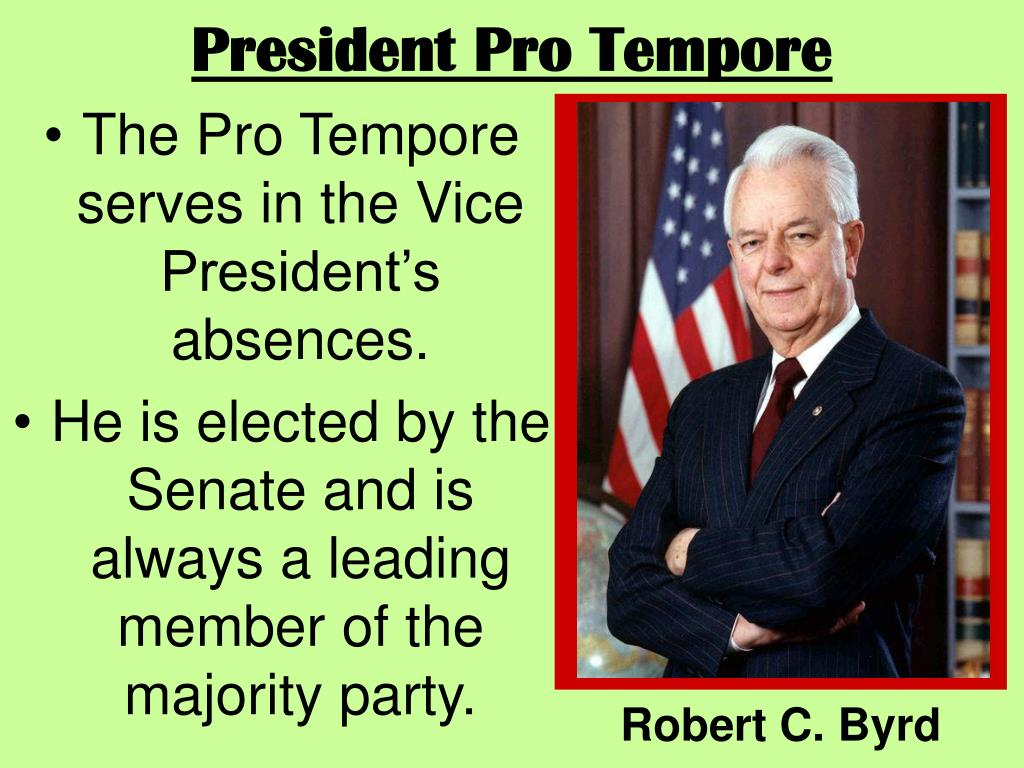 President Pro Tempore