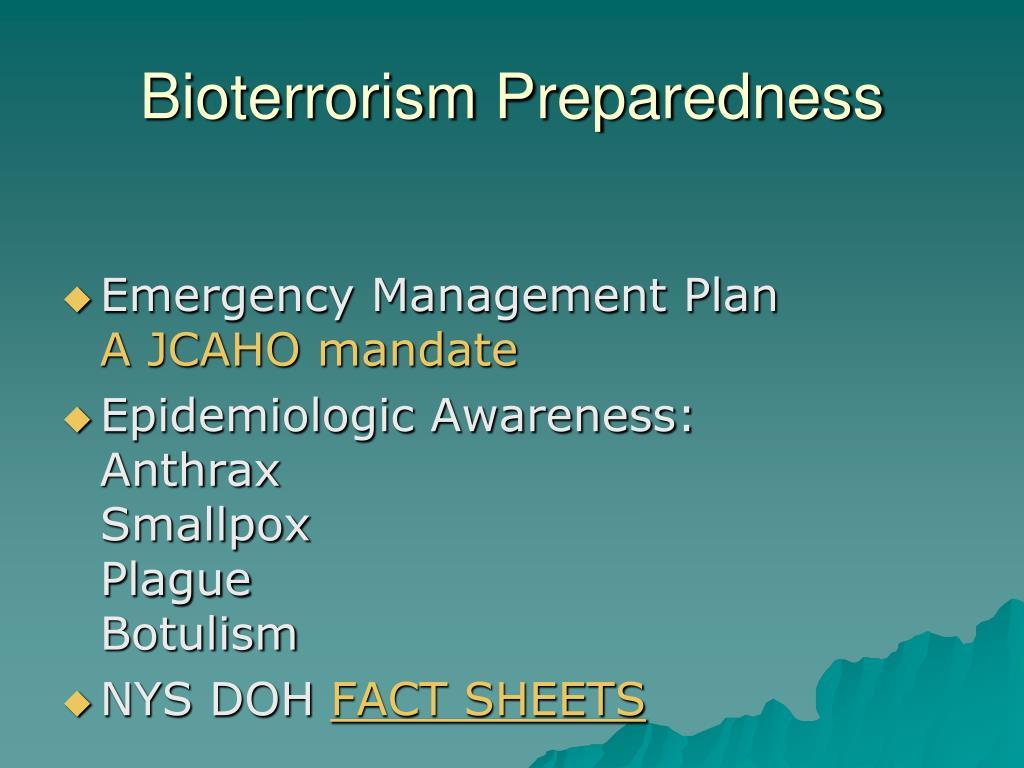 Bioterrorism Preparedness