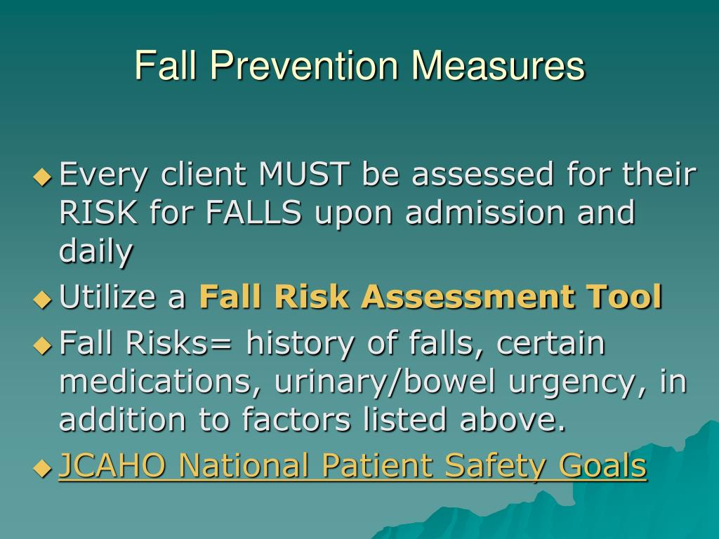 Fall Prevention Measures