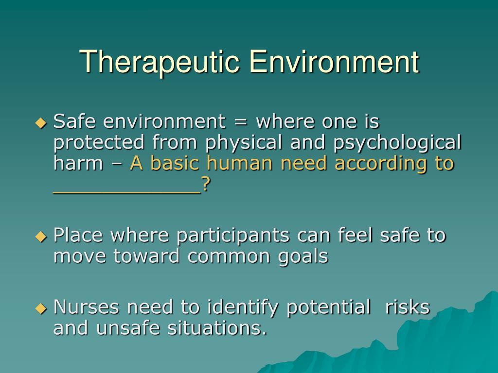 Therapeutic Environment