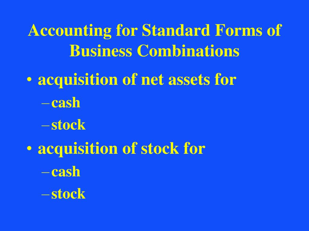 Accounting for Standard Forms of