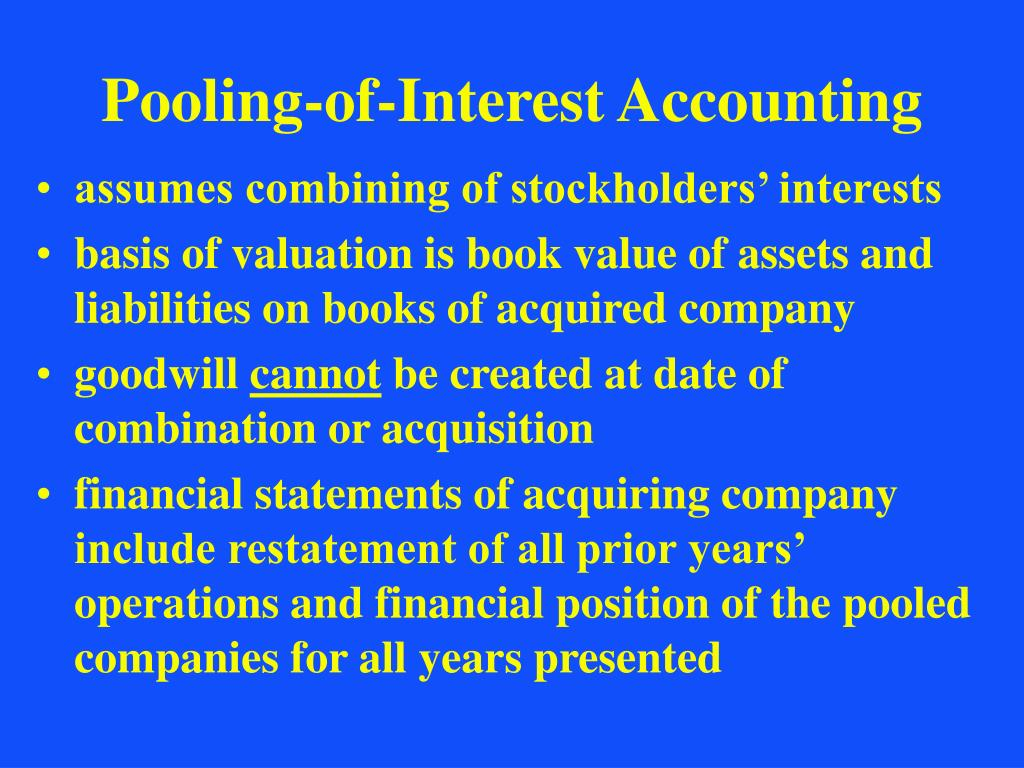 Pooling-of-Interest Accounting