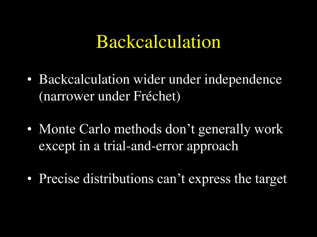 Backcalculation
