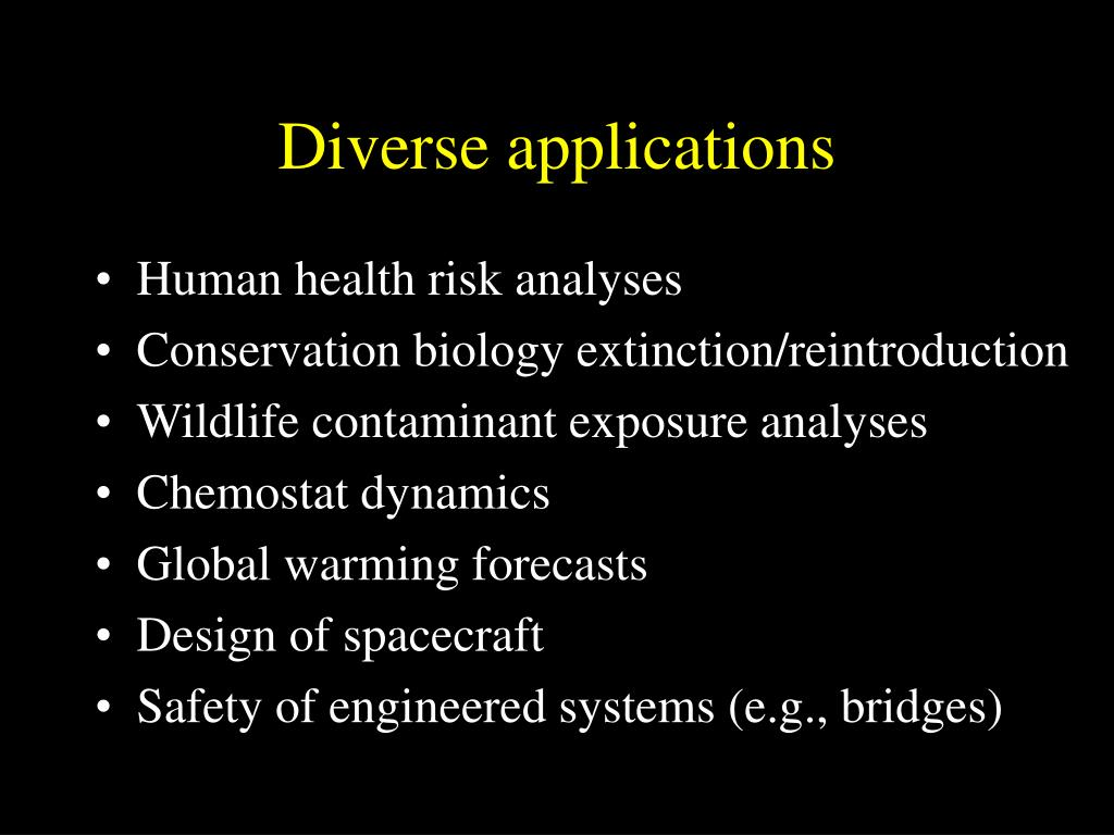Diverse applications