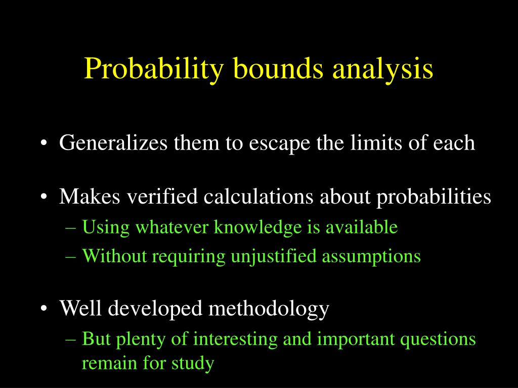 Probability bounds analysis