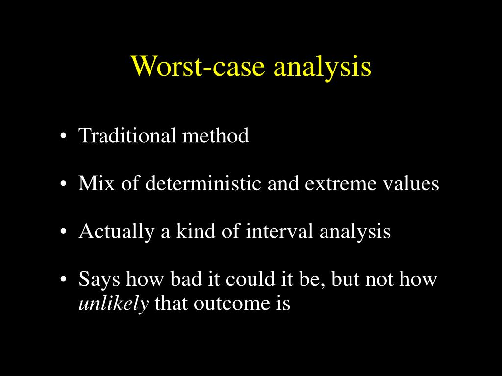 Worst-case analysis