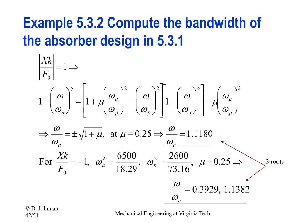 Example 5.3.2 Compute the bandwidth of the absorber design in 5.3.1