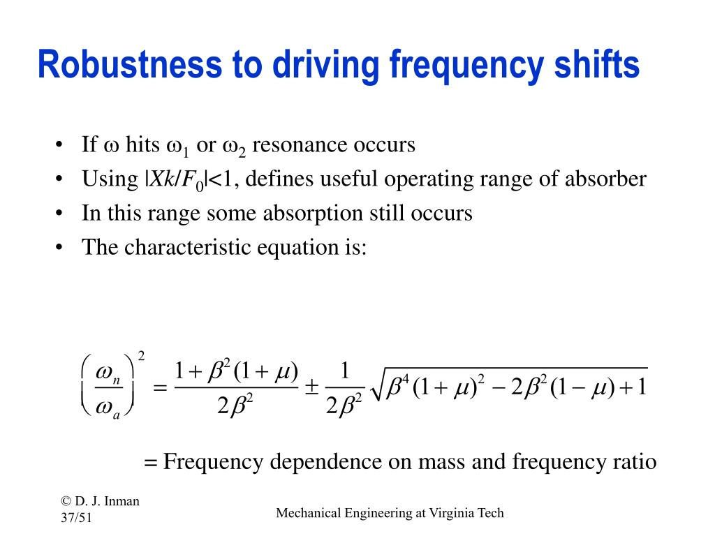 Robustness to driving frequency shifts