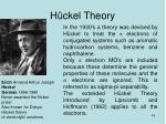 h ckel theory