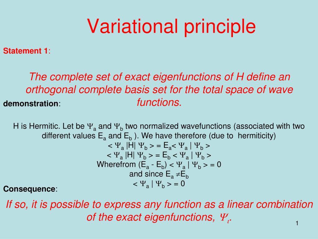 variational principle