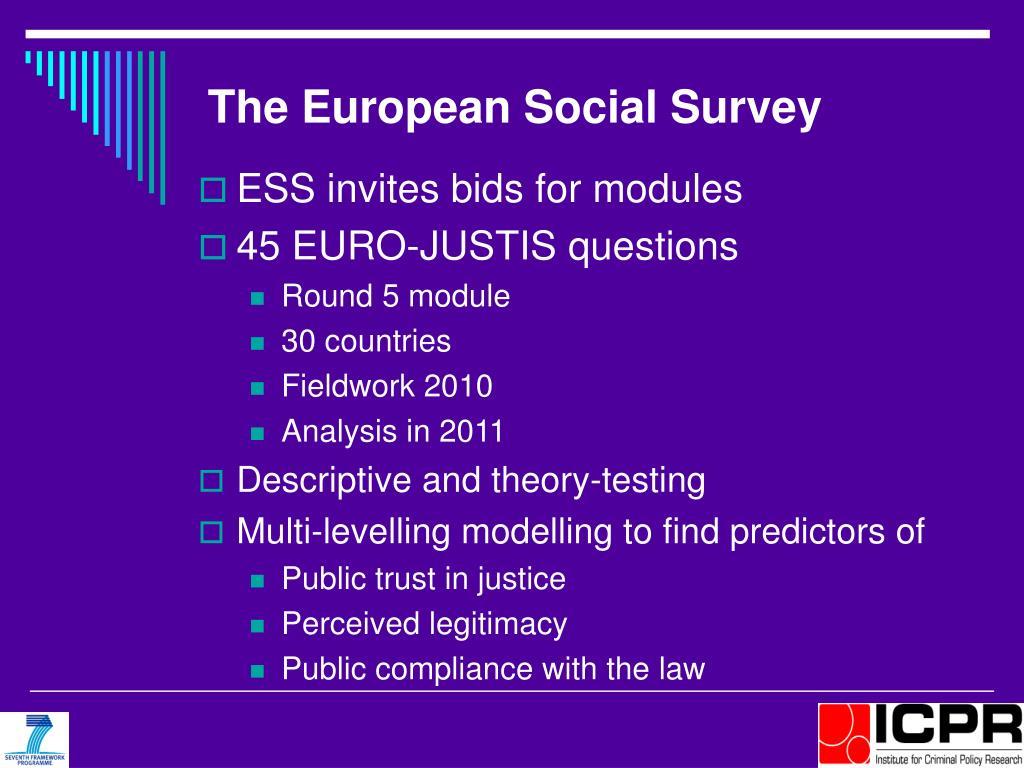 The European Social Survey