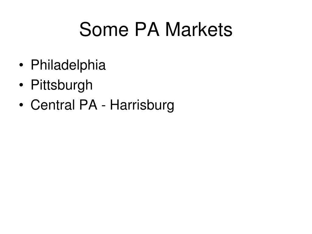 Some PA Markets