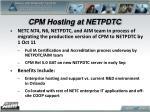cpm hosting at netpdtc