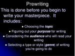 prewriting