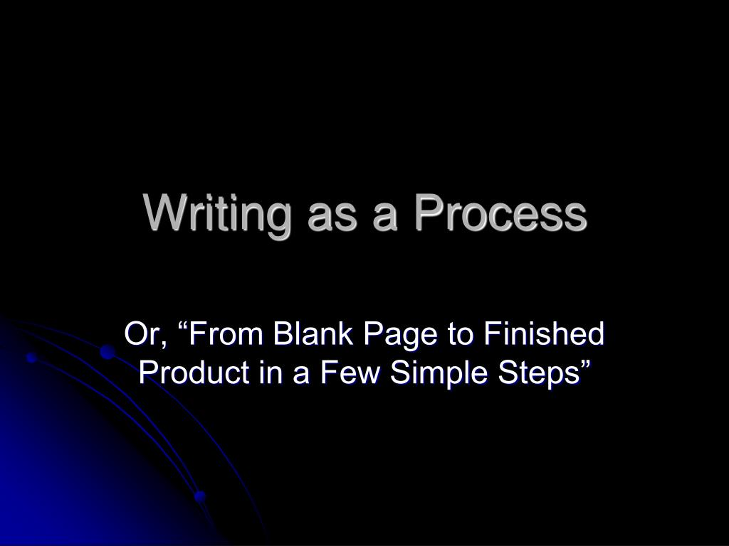 writing as a process l.