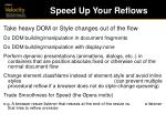 speed up your reflows