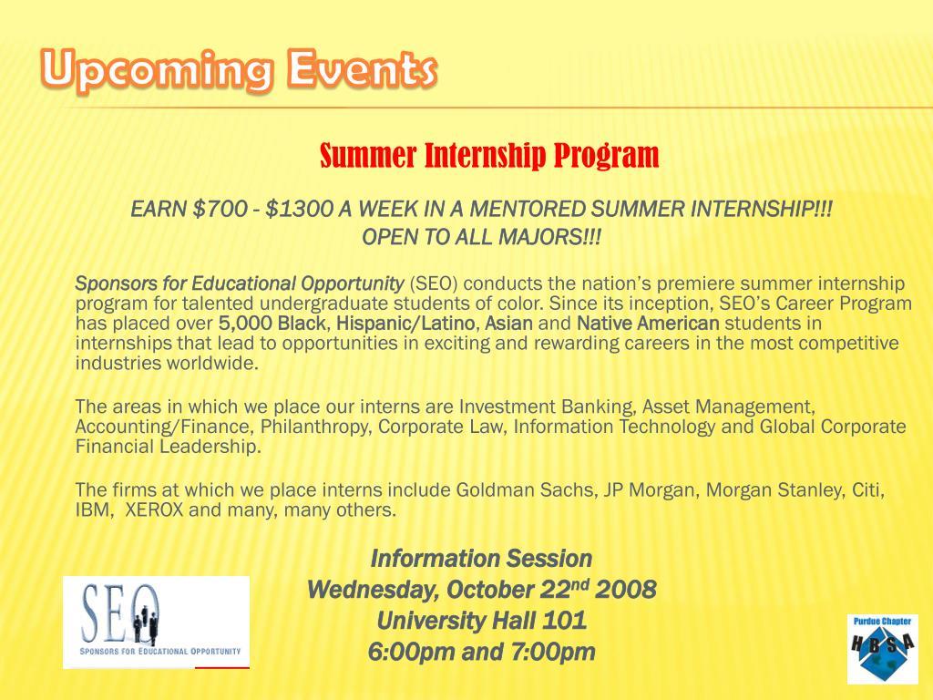 EARN $700 - $1300 A WEEK IN A MENTORED SUMMER INTERNSHIP!!!