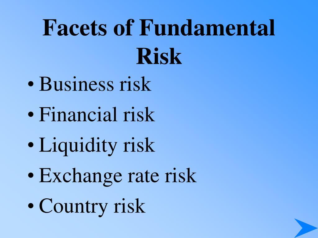 Facets of Fundamental Risk