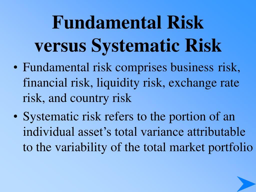 Fundamental Risk