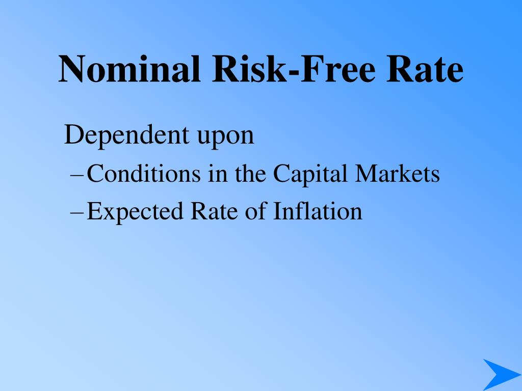 Nominal Risk-Free Rate