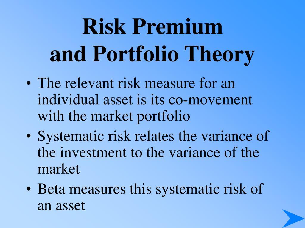Risk Premium