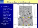 downscaling of met forecasts