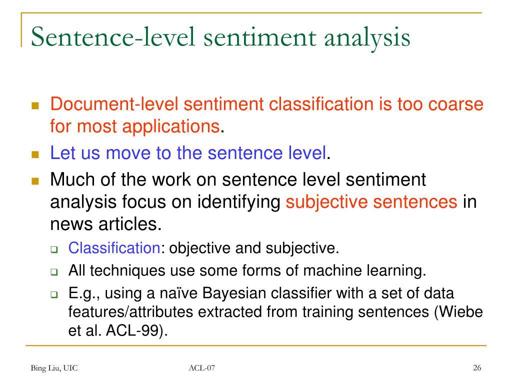 Sentence-level sentiment analysis