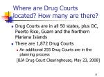 where are drug courts located how many are there