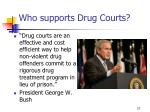 who supports drug courts27