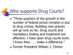 who supports drug courts29