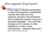who supports drug courts31
