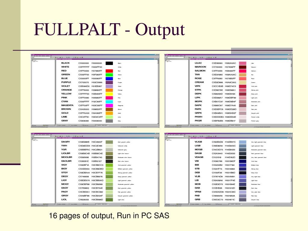 FULLPALT - Output