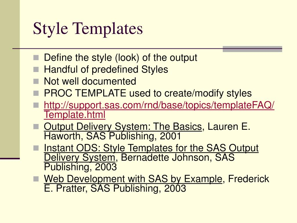 Style Templates