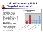 holton elementary title 1 targeted assistance