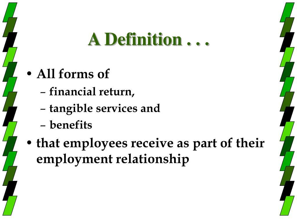 A Definition . . .