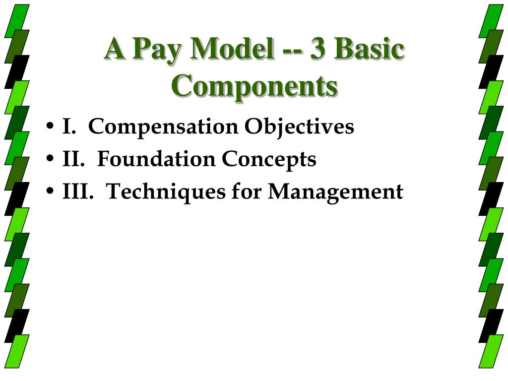 A Pay Model -- 3 Basic Components