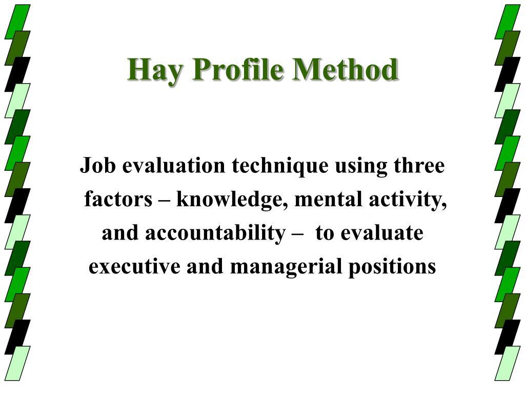 Hay Profile Method