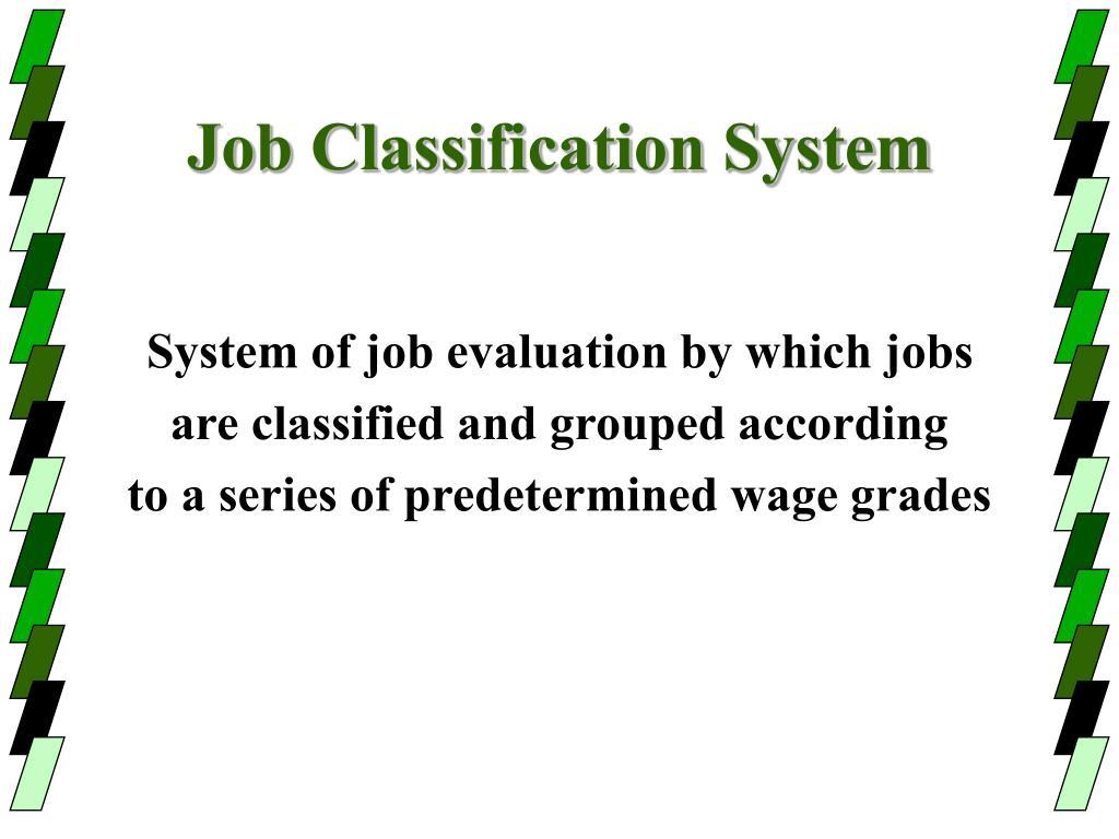 Job Classification System