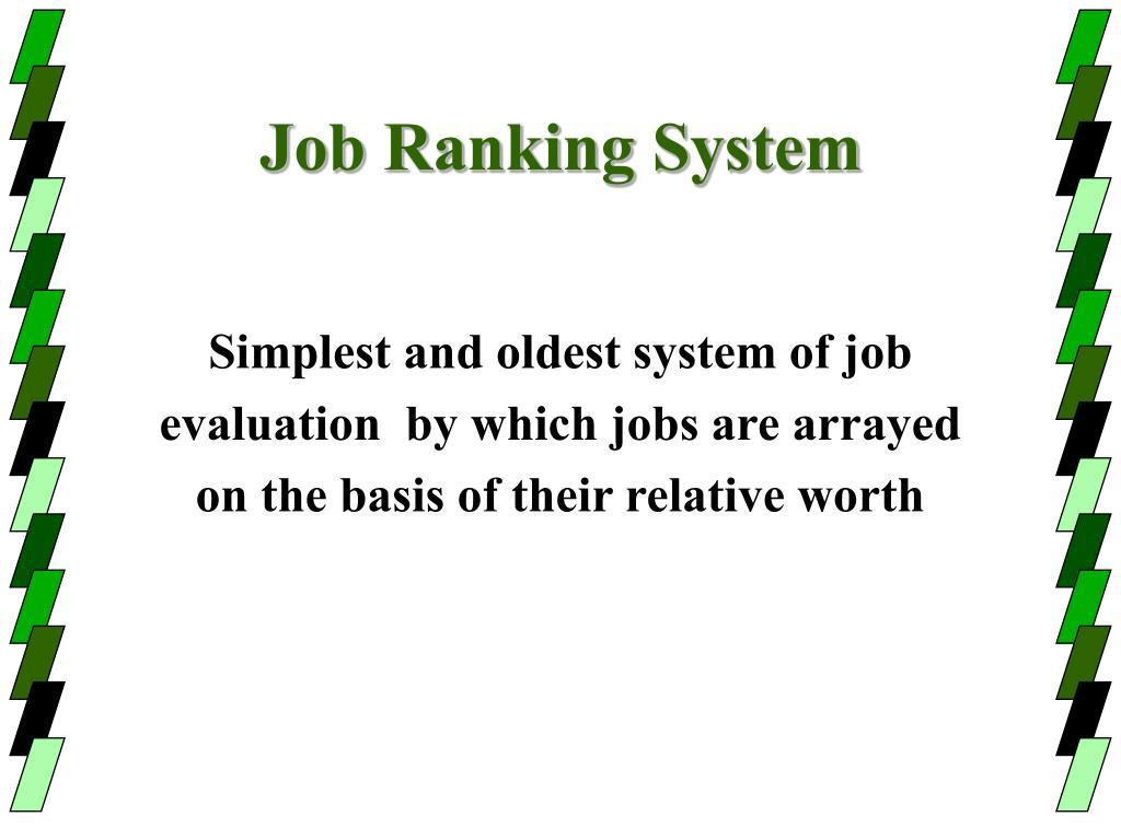 Job Ranking System