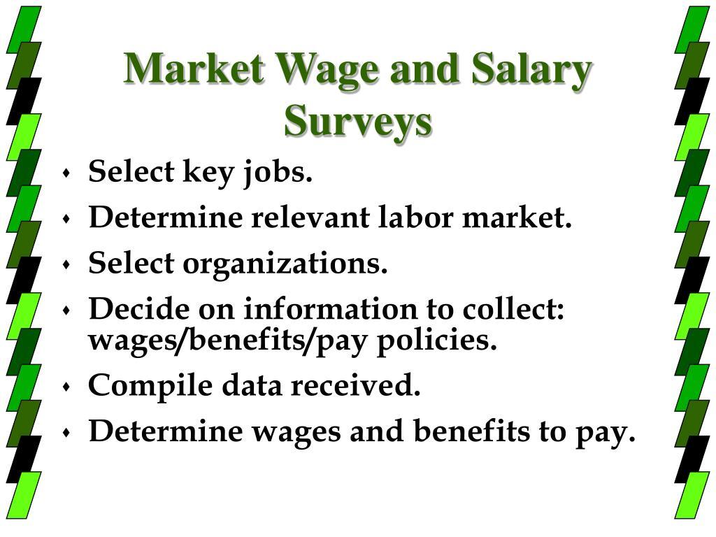 Market Wage and Salary Surveys