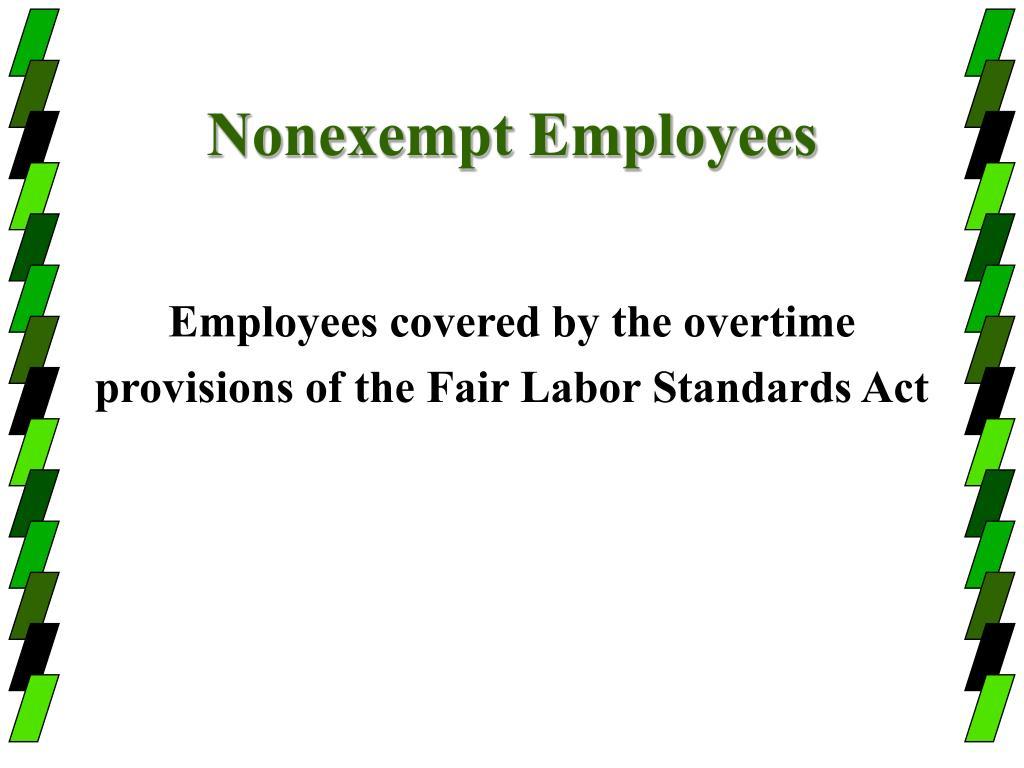 Nonexempt Employees