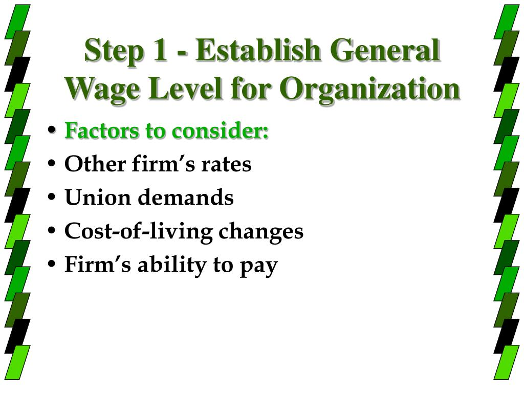 Step 1 - Establish General Wage Level for Organization